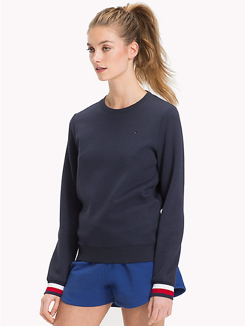 TOMMY HILFIGER Statement Cuff Sweatshirt - MIDNIGHT - TOMMY HILFIGER Clothing - main image
