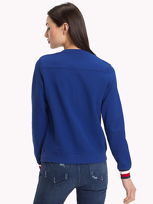 TOMMY HILFIGER Statement Cuff Sweatshirt - MAZARINE BLUE - TOMMY HILFIGER Clothing - detail image 1