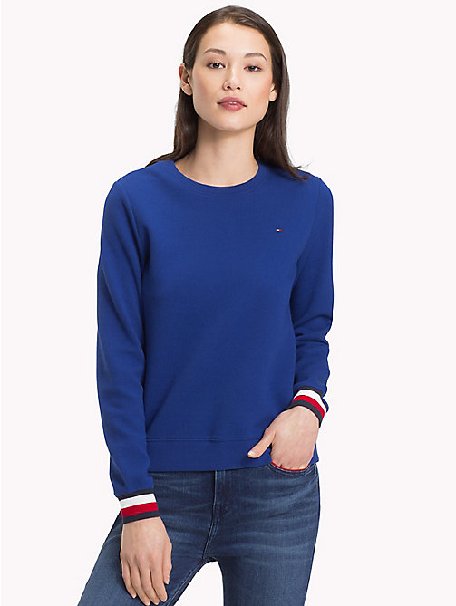 TOMMY HILFIGER Statement Cuff Sweatshirt - MAZARINE BLUE - TOMMY HILFIGER Clothing - main image