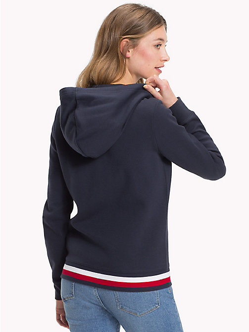 TOMMY HILFIGER Signature Stripe Hooded Sweatshirt - MIDNIGHT - TOMMY HILFIGER Clothing - detail image 1