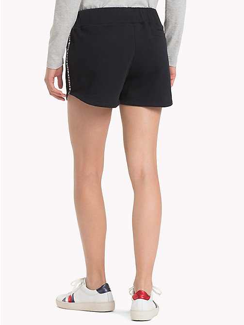 TOMMY HILFIGER Sporty Cotton Shorts - BLACK BEAUTY -  Clothing - detail image 1