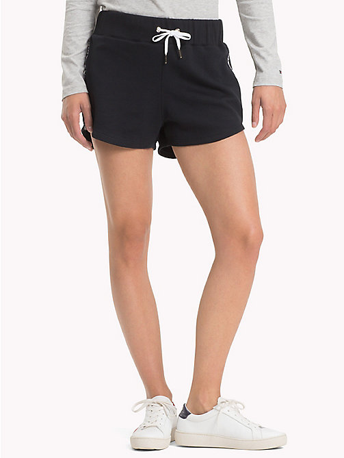 TOMMY HILFIGER Sporty Cotton Shorts - BLACK BEAUTY - TOMMY HILFIGER Trousers & Shorts - main image