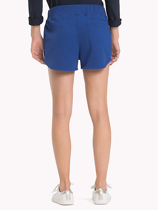 TOMMY HILFIGER Sporty Cotton Shorts - MAZARINE BLUE - TOMMY HILFIGER Shorts - detail image 1