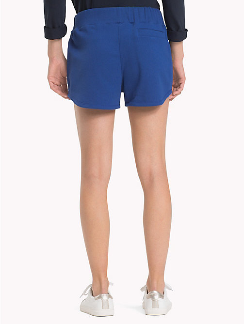 TOMMY HILFIGER Sporty Cotton Shorts - MAZARINE BLUE - TOMMY HILFIGER Trousers & Shorts - detail image 1
