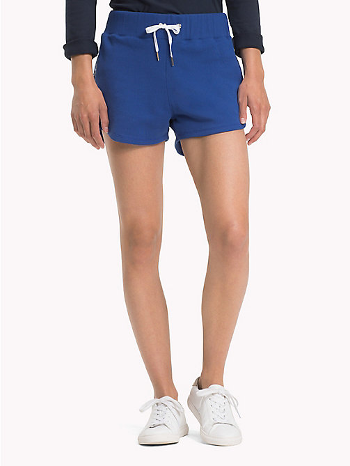 TOMMY HILFIGER Sporty Cotton Shorts - MAZARINE BLUE - TOMMY HILFIGER Shorts - main image