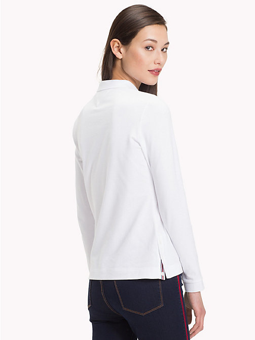 TOMMY HILFIGER Regular Fit Long Sleeve Polo Shirt - CLASSIC WHITE - TOMMY HILFIGER Polo Shirts - detail image 1