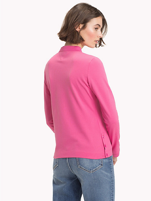 TOMMY HILFIGER Regular Fit Long Sleeve Polo Shirt - CHATEAU ROSE - TOMMY HILFIGER Polo Shirts - detail image 1