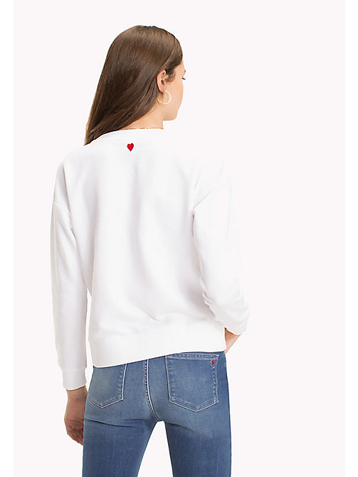 TOMMY HILFIGER Embroidered Crew Neck Sweatshirt - CLASSIC WHITE - TOMMY HILFIGER Sweatshirts - detail image 1