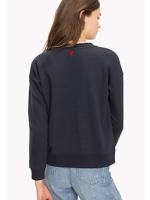 TOMMY HILFIGER Embroidered Crew Neck Sweatshirt - MIDNIGHT - TOMMY HILFIGER Sweatshirts - detail image 1