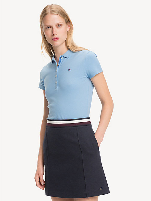 TOMMY HILFIGER Slim Fit Polo Shirt - DUSK BLUE - TOMMY HILFIGER NEW IN - main image