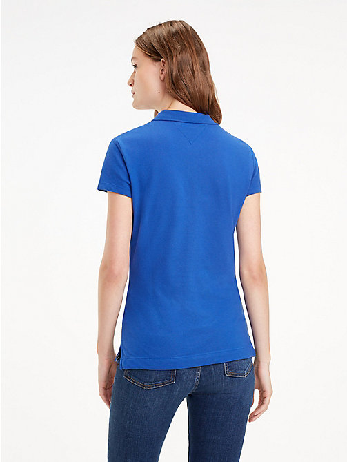 TOMMY HILFIGER Slim Fit Polo Shirt - MAZARINE BLUE - TOMMY HILFIGER Black Friday Women - detail image 1