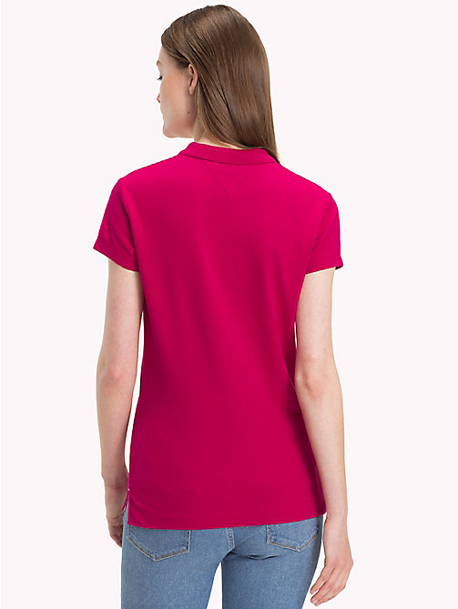 TOMMY HILFIGER Cotton Pique Polo Shirt - CERISE - TOMMY HILFIGER Polo Shirts - detail image 1
