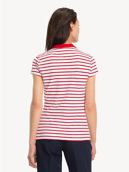 TOMMY HILFIGER Slim Fit Polo Shirt - BRETON STP / TRUE RED - TOMMY HILFIGER Polo Shirts - detail image 1
