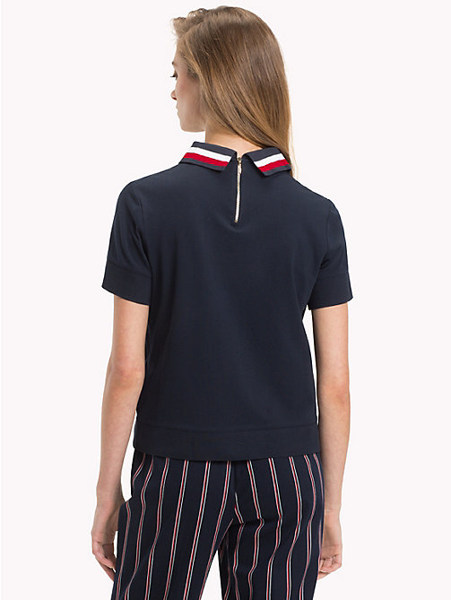 TOMMY HILFIGER Signature Tape Polo Shirt - MIDNIGHT - TOMMY HILFIGER Polo Shirts - detail image 1