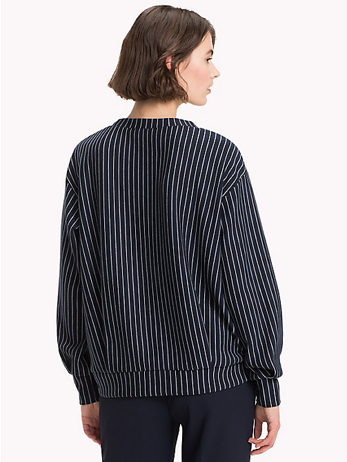 TOMMY HILFIGER Relaxed Fit Sweatshirt - PINSTRIPE CW / SKY CAPTAIN - TOMMY HILFIGER Clothing - detail image 1