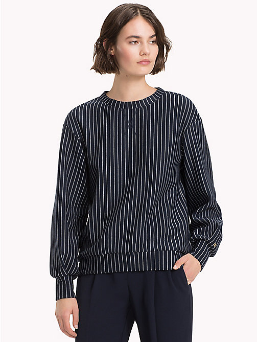 TOMMY HILFIGER Relaxed Fit Sweatshirt - PINSTRIPE CW / SKY CAPTAIN - TOMMY HILFIGER Clothing - main image
