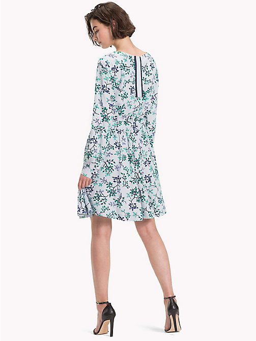 TOMMY HILFIGER Leaf Print Crepe Dress - FOREST FLORAL / HEATHER - TOMMY HILFIGER Dresses - detail image 1