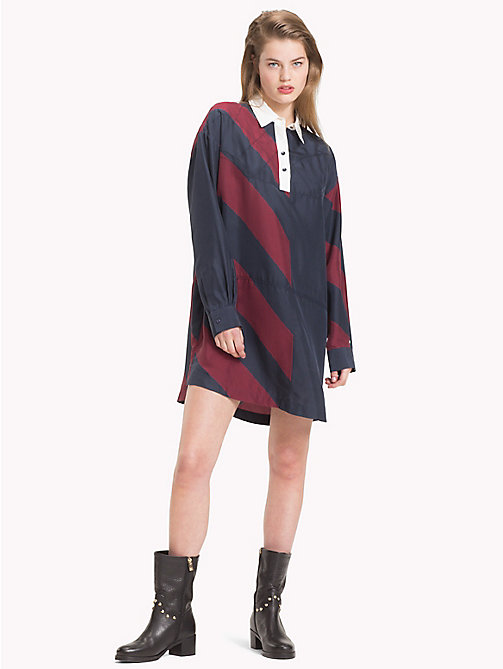 TOMMY HILFIGER Tommy Icons Rugby Stripe Dress - ICON  DIAGONAL STP / SKY CAPTAIN - TOMMY HILFIGER TOMMY NOW WOMEN - main image