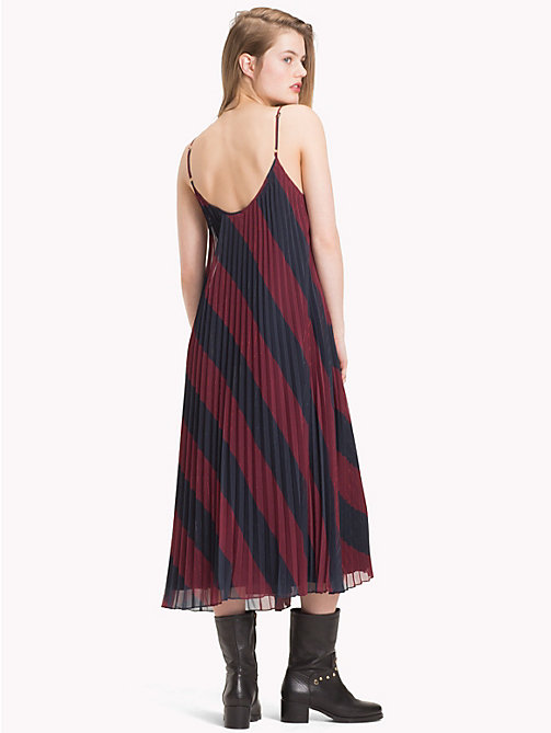 TOMMY HILFIGER Tommy Icons Slip Dress - ICON  DIAGONAL STP / SKY CAPTAIN - TOMMY HILFIGER TOMMY NOW WOMEN - detail image 1