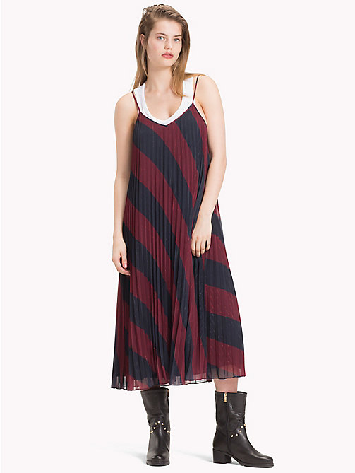 TOMMY HILFIGER Tommy Icons Slip Dress - ICON  DIAGONAL STP / SKY CAPTAIN - TOMMY HILFIGER TOMMY NOW WOMEN - main image