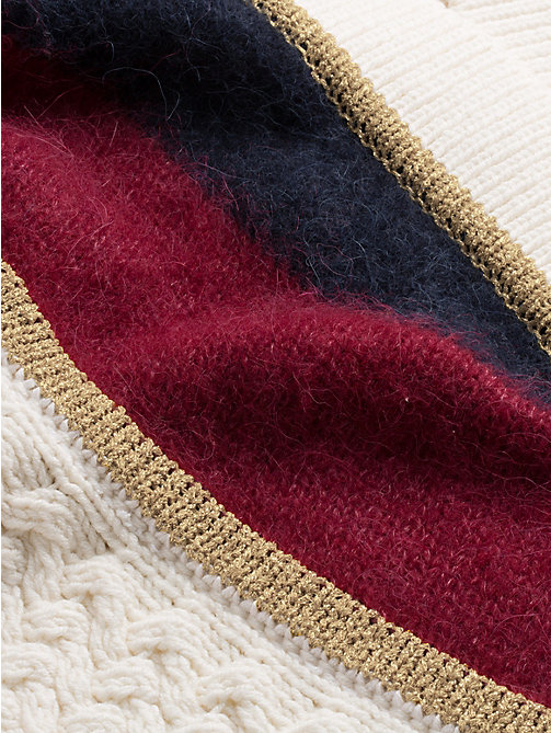 TOMMY HILFIGER Tommy Icons Metallic Stripe Cardigan - SNOW WHITE MULTI - TOMMY HILFIGER Clothing - detail image 1