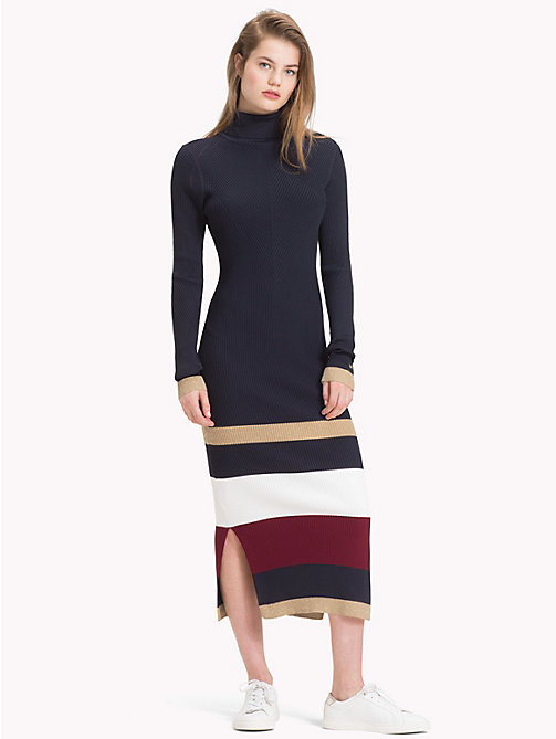 TOMMY HILFIGER Tommy Icons Stripe Dress - MIDNIGHT MULTI - TOMMY HILFIGER TOMMY ICONS - main image