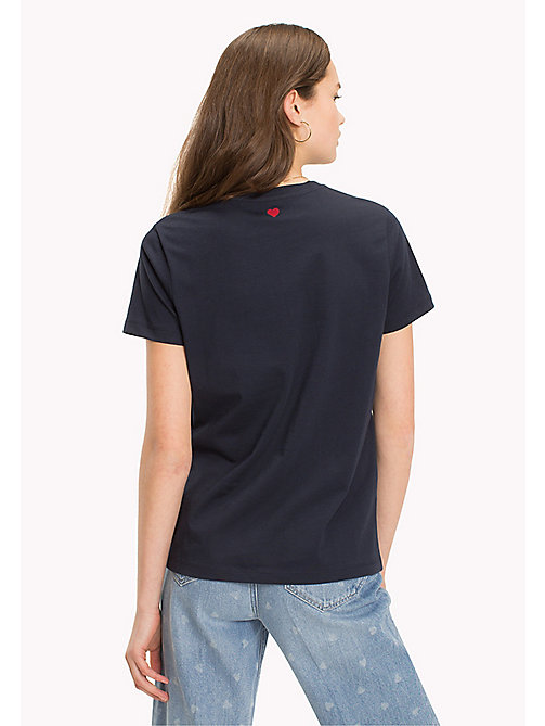 TOMMY HILFIGER Logo Embroidered Crew Neck T-Shirt - MIDNIGHT - TOMMY HILFIGER T-Shirts - detail image 1