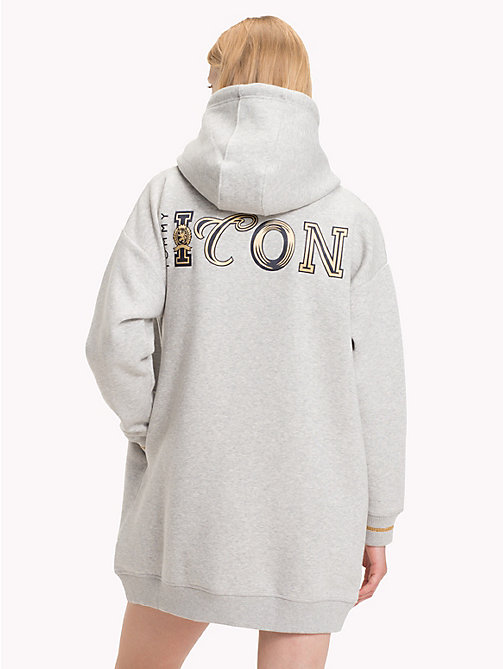 TOMMY HILFIGER Tommy Icons Hooded Dress - LIGHT GREY HTR - TOMMY HILFIGER TOMMY ICONS - detail image 1