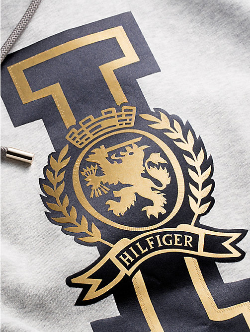 TOMMY HILFIGER Abito felpa con cappuccio Tommy Icons - LIGHT GREY HTR - TOMMY HILFIGER TOMMY NOW DONNA - dettaglio immagine 1