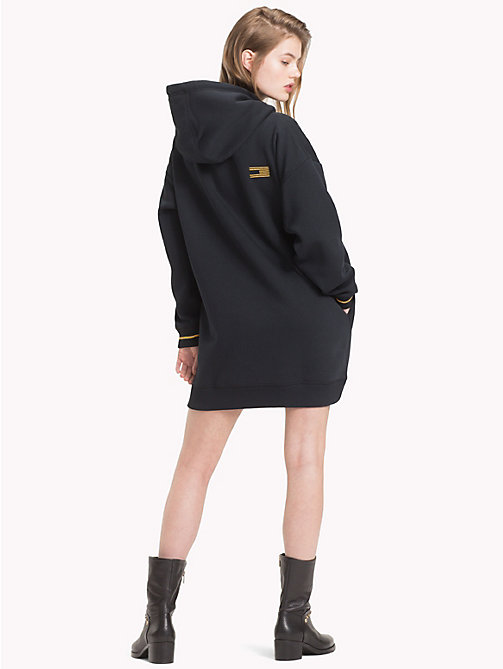 TOMMY HILFIGER Tommy Icons Fleece Dress - BLACK BEAUTY - TOMMY HILFIGER TOMMY NOW WOMEN - detail image 1