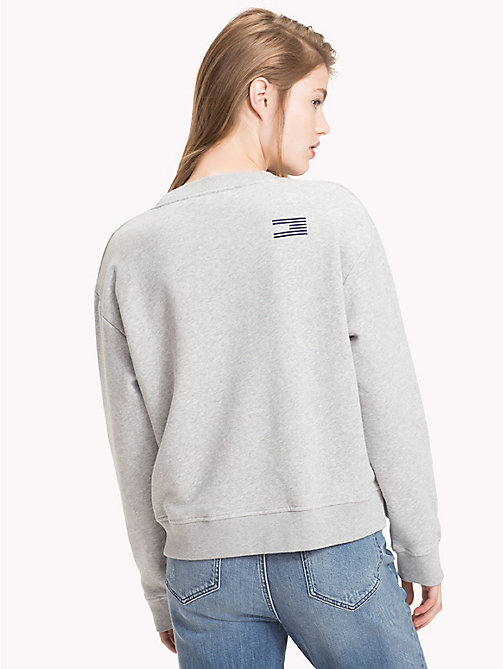 TOMMY HILFIGER Tommy Icons Sweatshirt - LIGHT GREY HTR - TOMMY HILFIGER TOMMY ICONS - detail image 1