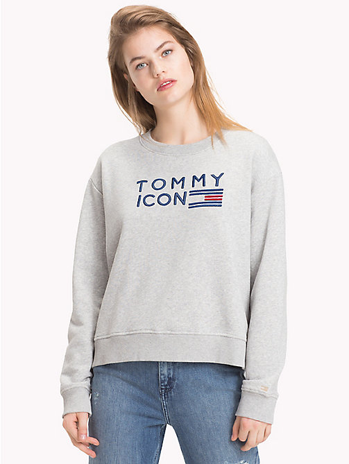 TOMMY HILFIGER Tommy Icons sweatshirt - LIGHT GREY HTR - TOMMY HILFIGER TOMMY ICONS - main image