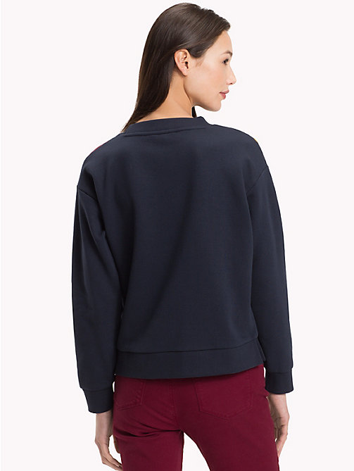 TOMMY HILFIGER Sweatshirt met colour-blocked chevron - MIDNIGHT - TOMMY HILFIGER Winter Musthaves - detail image 1