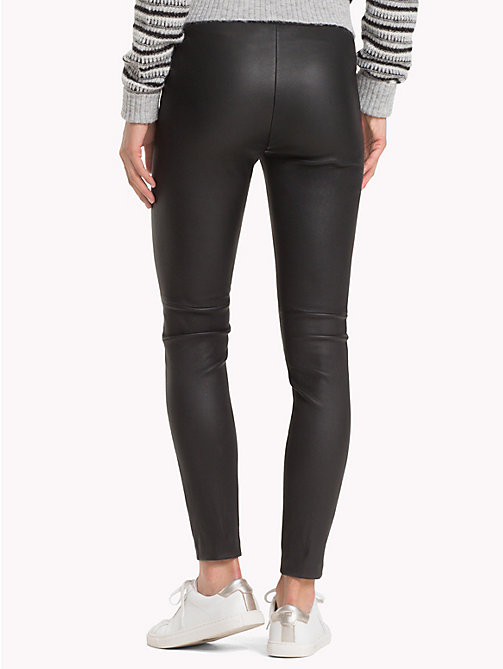 TOMMY HILFIGER Leather Jeggings - BLACK BEAUTY - TOMMY HILFIGER Clothing - detail image 1