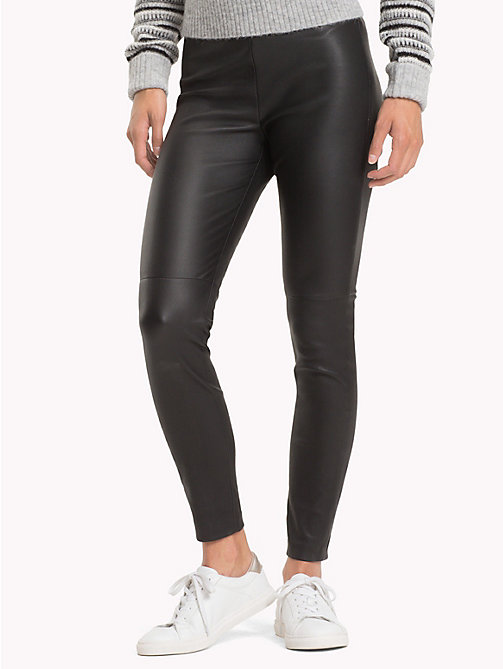TOMMY HILFIGER Leather Jeggings - BLACK BEAUTY - TOMMY HILFIGER Leather Trousers - main image