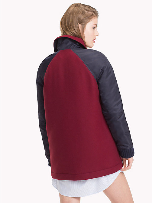 TOMMY HILFIGER Tommy Icons Coach's Jacket - MIDNIGHT / CABERNET - TOMMY HILFIGER Coats & Jackets - detail image 1