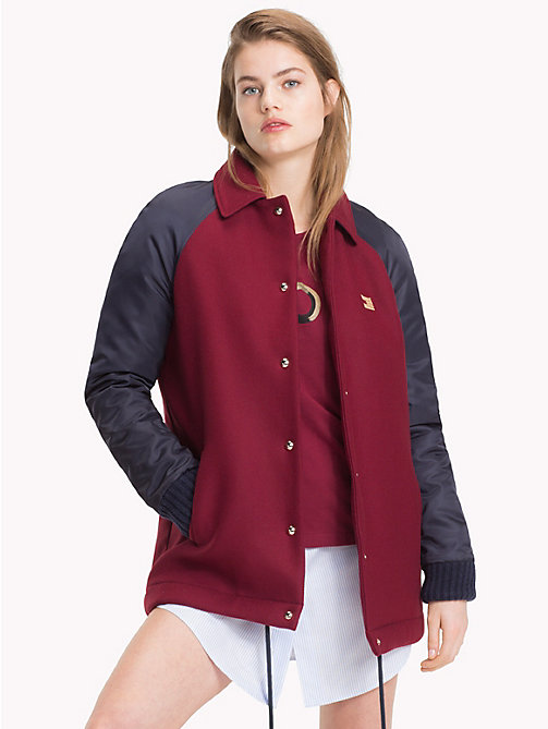 TOMMY HILFIGER Tommy Icons Coach's Jacket - MIDNIGHT / CABERNET -  TOMMY ICONS - main image