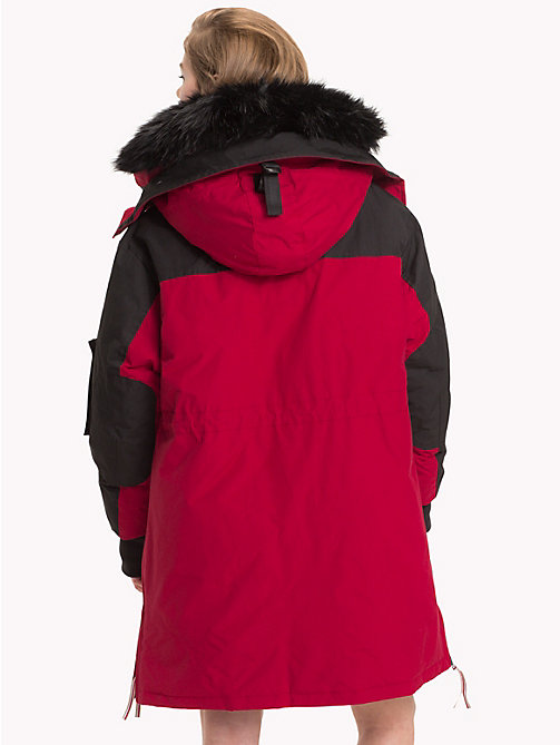 TOMMY HILFIGER Tommy Icons Parka - BLACK BEAUTY / RED - TOMMY HILFIGER Parka Coats - detail image 1