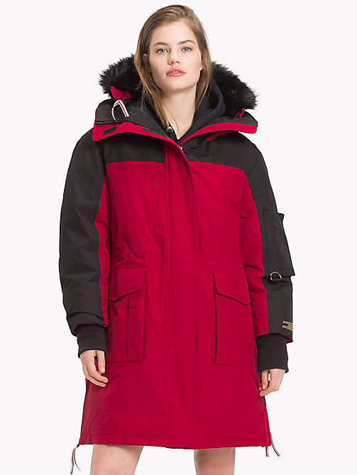 TOMMY HILFIGER Tommy Icons Parka - BLACK BEAUTY / RED - TOMMY HILFIGER Parka Coats - main image