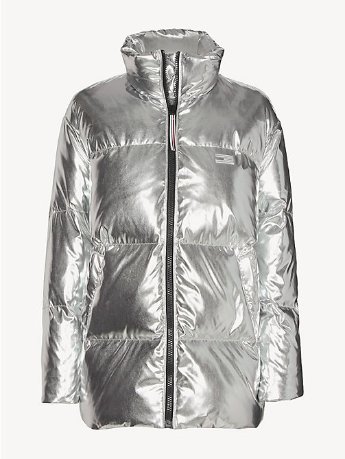 TOMMY HILFIGER Tommy Icons Puffer Jacket - SILVER - TOMMY HILFIGER Jackets - detail image 1