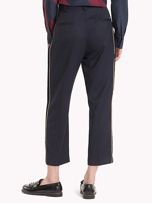 TOMMY HILFIGER Tommy Icons cropped broek - MIDNIGHT - TOMMY HILFIGER TOMMY NOW DAMES - detail image 1