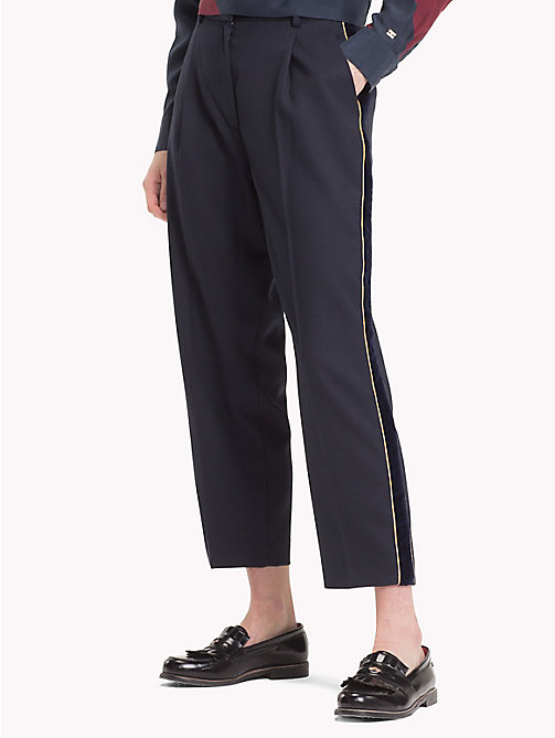 TOMMY HILFIGER Tommy Icons Cropped Trousers - MIDNIGHT - TOMMY HILFIGER TEST PARENT - main image