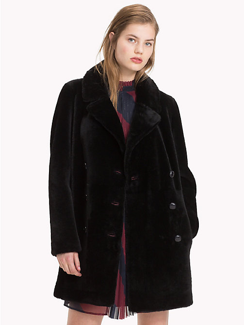 TOMMY HILFIGER Tommy Icons Shearling Coat - MIDNIGHT - TOMMY HILFIGER TOMMY ICONS - main image