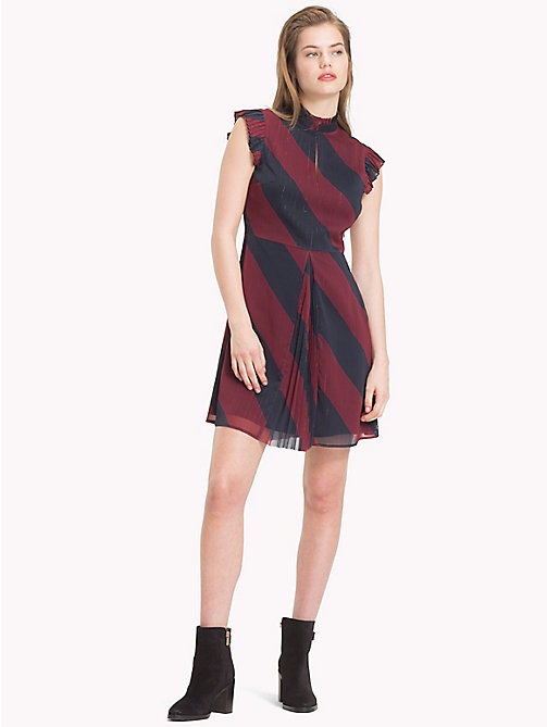 TOMMY HILFIGER Tommy Icons Skater Dress - ICON  DIAGONAL STP / SKY CAPTAIN - TOMMY HILFIGER TOMMY NOW WOMEN - main image