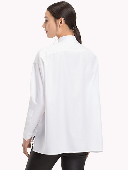 TOMMY HILFIGER Oversized Cotton Shirt - CLASSIC WHITE - TOMMY HILFIGER What to wear - detail image 1