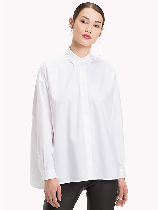 TOMMY HILFIGER Oversized Cotton Shirt - CLASSIC WHITE - TOMMY HILFIGER What to wear - main image