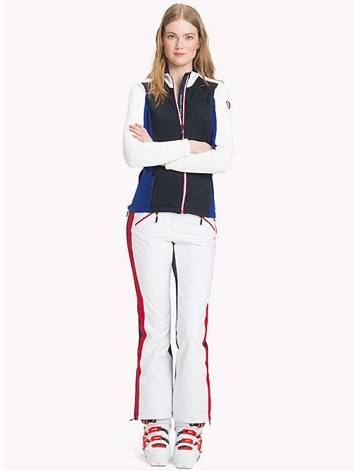 TOMMY HILFIGER Rossignol Stretch Jacket - SKY CAPTAIN / CLASSIC WHITE / BLUE - TOMMY HILFIGER TOMMYXROSSIGNOL - detail image 1
