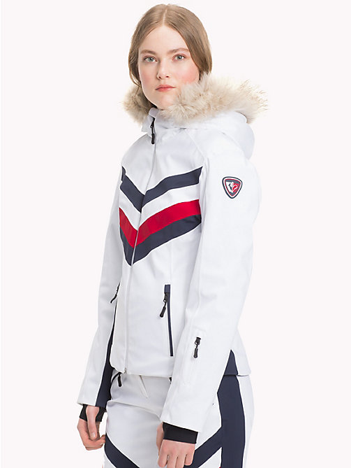 TOMMY HILFIGER Rossignol Hooded Jacket - CLASSIC WHITE / GLOBAL STP - TOMMY HILFIGER TOMMYXROSSIGNOL - main image