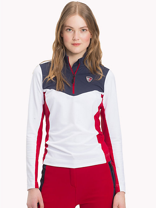 TOMMY HILFIGER Rossignol Techno Stretch Top - CLASSIC WHITE / SKY CAPTAIN - TOMMY HILFIGER TOMMYXROSSIGNOL - main image
