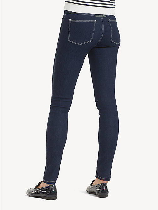 TOMMY HILFIGER Skinny fit jeans met contraststiksel - ALTEA - TOMMY HILFIGER Sustainable Evolution - detail image 1
